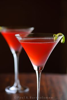 Cosmopolitan Cocktail - vodka, triple sec (or cointreau), cranberry juice and lime.  Always in fashion - make sure to keep this as a staple of your cocktail wardrobe.