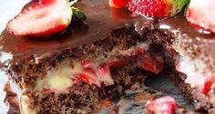 Bolo de Chocolate com Recheio de Beijinho e Morangos é uma boa alternativa para aquela festa de aniversário! Uma boa alternativa aos bolos tradicionais que