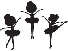Little Ballerina Silhouette Clipart