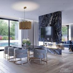 40 Best Contemporary Dining Room Design For Your New Home Genç Odası Luxury Home Decor, Luxury Interior, Modern Interior Design, Luxury Furniture, Luxury Homes, Rustic Furniture, Modern Furniture, Antique Furniture, Outdoor Furniture