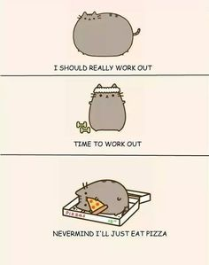 Lol me too Pusheen, me too Pusheen Love, Pusheen Stuff, Pugs, Nyan Cat, Eat Pizza, Pizza Cat, Cat Sleeping, Fat Cats, Cat Life