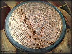 penny covered table