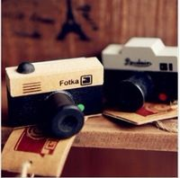 8 pcs/lot DIY Small Vintage Retro LOMO Photo Camera Wooden Stamps for Decoration Scrapbooking Stationery Free shipping 228