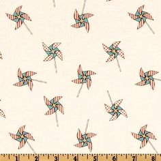 Fabric FLANNEL Retro ON The GO Pinwheels fd5142 Children At Play Sarah Jane Contemporary Michael Miller Quilting Sewing 1 Yard