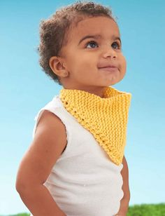 Stylish and practical Dribble Bib for babies. Materials Yarn: Lily Sugar'n Cream oz oz; 120 m), 1 ball Needle Size US size 7 mm) Find the free pattern from Yanspirations here: link More Patterns Like This! Easy Baby Knitting Patterns, Shrug Knitting Pattern, Bib Pattern, Knitting For Kids, Knitting For Beginners, Knitting Designs, Knit Patterns, Free Pattern, Knitting Projects