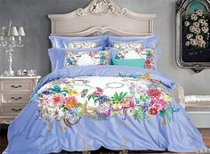 Egyptian Cotton Boho Luxury Duvet Cover And Sheet Set Queen/King Size