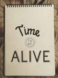 Time to be ALIVE by Shrenik Ganatra, via Behance