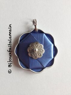 jewelry tutorial for a pendant with nespresso capsule ♥