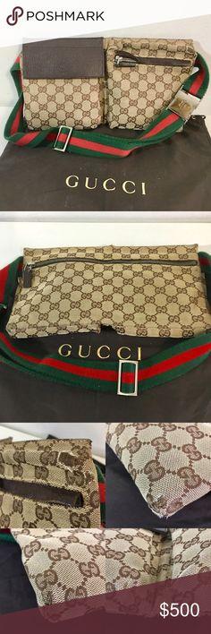 e777aece2149 Authentic GUCCI waist bag/fanny pa k/bum bag Authentic GUCCI waist bag/