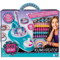 Cool Maker Kumikreator Friendship Bracelet Maker, Quick &Amp Easy Activity Kit For Kids Ages 8 And Up Craft Kits, Diy Kits, Bracelet Patterns, Bracelet Designs, Cool Maker, Toys For Girls, Kids Toys, Toys Uk, Nail Stamper