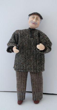Dolls House Miniature Tweedy Grandad 1-12Th Scale | eBay!