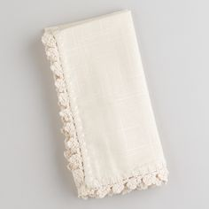 Ecru Crochet Trim Napkins, World Market