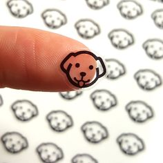 Clear Puppy Planner Stickers  • You will receive 1 sheet of 48 puppy stickers. • Stickers measure .48 x .38 each. • Entire sticker sheet measures at 3.4 x 4.5 • Made from high quality clear sticker sheets. Check out the shop for more clear stickers! https://www.etsy.com/shop/honeyinked  - - - - - - - - - Thank you so much for your interest in Honeyinked stickers! These clear stickers are fairly glossy, and because of their very slick and non-matte surface they wont accept most pens, and are…