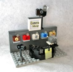 Camera Shop  http://gingersgems.wordpress.com/custom-lego-creations/