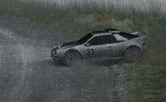 Dirt Rally - Ford RS200 - Powys Wales, Dyffryn Afon Reverse