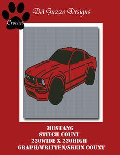 (4) Name: 'Crocheting : Mustang Crochet Graph Written Word Chart