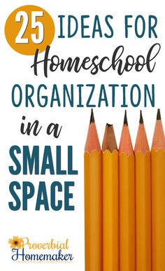 Trying to organize all those books and resources for your homeschool? Here are fantastic ideas for homeschool organization in a small space!  via @TaunaM