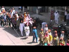 श्री गंगानगर (राज.) में पूज्य बापूजी के अवतरण दिवस पर निकाली गयी शोभायात्रा