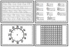 Hjälpkort - bokstäver, siffror och klockan - Lektionsbanken.se - Lärare inspirerar lärare