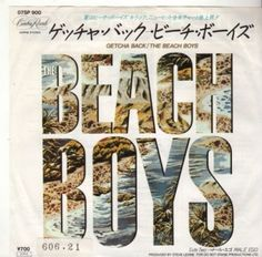 "$ THE BEACH BOYS 7"" PS JAPAN GETCHA BACK A221"