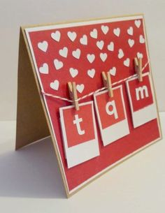 Tarjeta san valentin You see hearts everywhere? Easy, takes only 1 day for V-Day :). Live this day with # CreatividadProarte. Mothers Day Cards, Valentine Day Cards, Valentine Ideas, Paper Cards, Diy Cards, Diy Birthday, Birthday Cards, Tarjetas Diy, Washi Tape Diy