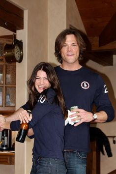 genevieve cortese e jared Padalecki   One of my all time fave pix