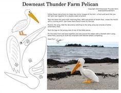 Aves de feltro Susan Jordan Bennett (com padrões) - Mestrado Feira - artesanal, feito à mão
