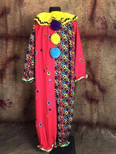 XL 2XL Professionally Made Adult Cotton Clown Costume   eBay