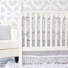 Caden Lane Baby Bedding - Gray Mod Baby Bedding, $172.00 (http://cadenlane.com/gray-mod-crib-bedding/)