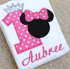Hot Pink Princess Minnie Mouse Personalized by ButuzaBabyDesigns, $25.95