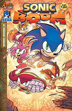 """Sonic Boom #11:   Follow up after the """"WORLDS UNITE"""" crossover with a BOOM in this EXPLOSIVE eleventh issue! """"Eggman Gets a Gorilla"""": When Dr. Eggman's regular robotic enforcers just can't cut the mustard, he hires some additional help! (Because, seriously, how hard is it to cut mustard?) Introducing the mighty, Kyle the Gorilla! Is he really the next APE wonder of the world?  Or will Sonic get yet another reason to point and laugh? You'll be pointing and laughing too -- but in a good ..."""