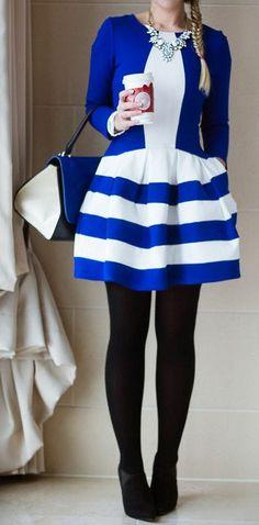 Contrast Striped Dress LBV
