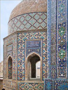 Mausolée octogonal (Shah-i-Zinda, Samarcande) by dalbera    Samarkand, Uzbekistan