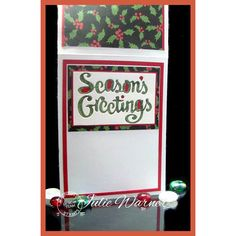 Serendipity Stamps Season's Greetings Die - make the inside of your card just as fun as the front!