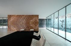 This, but with the Sandstone??? Mies in perspective II, Ludwig Mies van der Rohe, Barcelona Pavilion by JuanVan, via Flickr