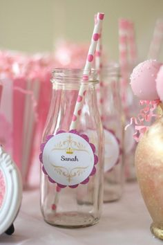 Pink + Gold Princess themed birthday party via Kara's Party Ideas KarasPartyIdeas.com Cake, supplies, printables, desserts, food, favors, and more! #princess #princessparty #pinkprincessparty #princesscake #princesspartysupplies (19)