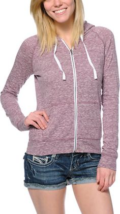 Zine Purple Raglan Zip Up Hoodie at Zumiez : PDP