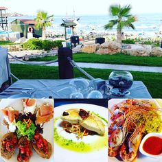 Enjoy your lunch with a view at our Thalassa restaurant #lunch #view #sea #beach…