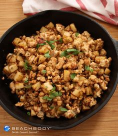 This healthier version of corned beer hash is made with turkey instead! To use #Thanksgiving #leftovers, just omit the ground turkey in this recipe and add chopped cooked turkey in the last step.