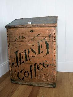 1890s General-Store Bin  ~  Before grocers became commonplace in the 1940s, rural Americans shopped at their local general stores, which sold everything from farm equipment to flour. Whole-salers often provided the stores with branded bins for displaying their particular wares.