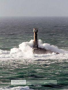 westerly gale, Longships Lighthouse, Lands End, England