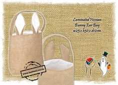 Hessian Easter Bag - Can be screen printed - handpainted - machine and hand-embroidered. Adding a bit of Easter Magic to any easter egg hunt. Burlap Bags, Hessian, Builders Warehouse, Clothing Packaging, Clay Flowers, Egg Hunt, Painting For Kids, Easter Crafts, Craft Gifts