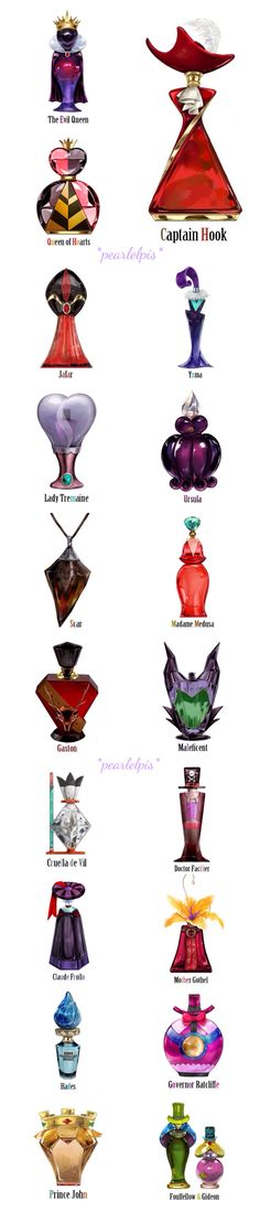 Disney Villan reimagined as perfume I want the bottles but you can't buy them