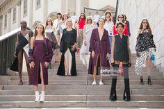 Models performe during the Ssheena show during Milan Fashion Week Spring/Summer 2018 on September 25, 2017 in Milan, Italy.