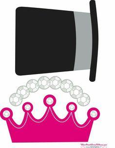 Corona y sombrero imprimible y recortable para tus fiestas