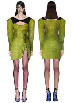 madalina buzas on Behance Fashion Design Portfolio, Technical Drawings, Fashion Sketches, Uni, Behance, Illustrations, Trends, Sport, Bridal