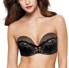 bab4080c13 Wonderbra Refined Glamour Lace W031U Magic Hands Strapless Push up Bra Magic  Hands
