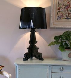 Genuine Designer Kartell Bourgie Table Lamp in solid Black polycarbonate | eBay