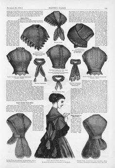 civil war era fashion - knitted fichu - Harper's Bazaar - Google Books