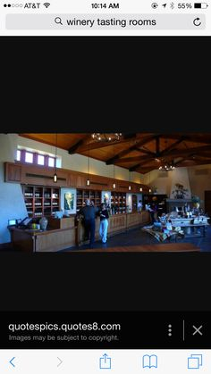 Wine tasting room and store design
